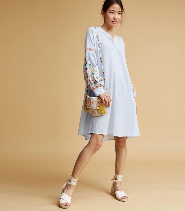 cute boho dresses - Antik Batik Frida Embroidered Tunic
