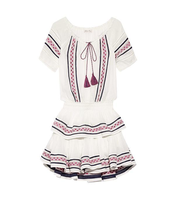 cool boho dresses -  LoveShackFancy Poppy Embroidered Dress