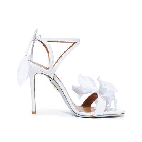 Flora Satin Back-Tie Sandals