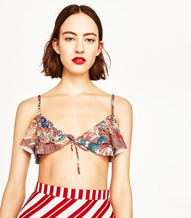 Zara Frilled Bikini Top
