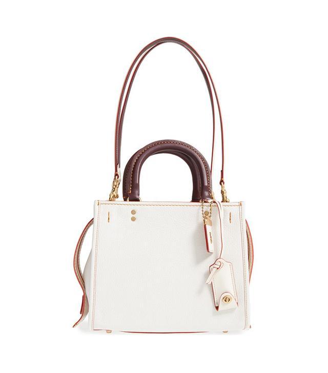 selena gomez handbag: coach rogue