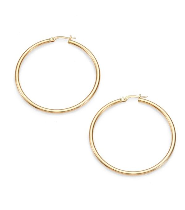 "Roberto Coin 18K Yellow Gold Hoop Earrings/1.75"""