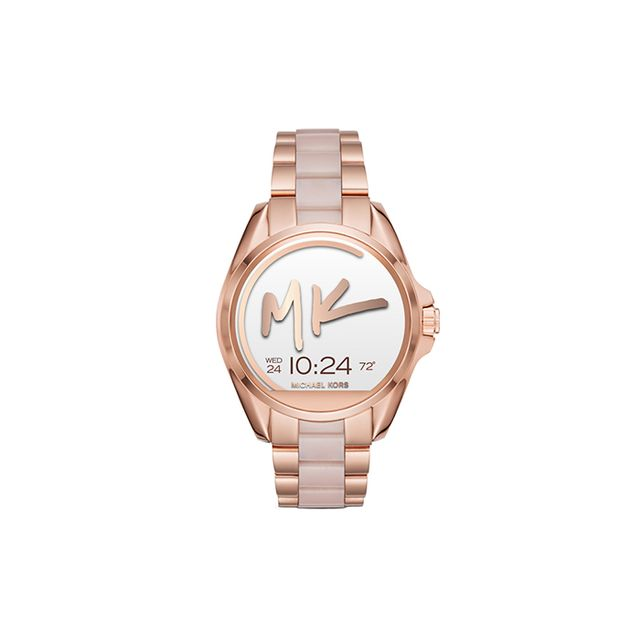 Michael Kors Women's Access Bradshaw Digital Rose Gold-Tone Stainless Steel and Blush Acetate Bracelet Smart Watch