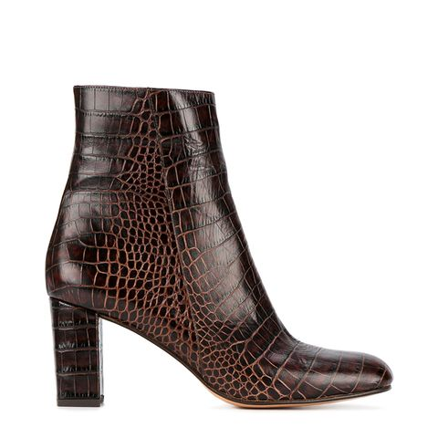 Alligator-Embossed Agnes Boots