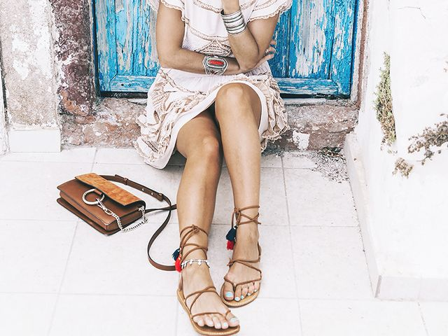 best affordable sandals - lace up brown sandals