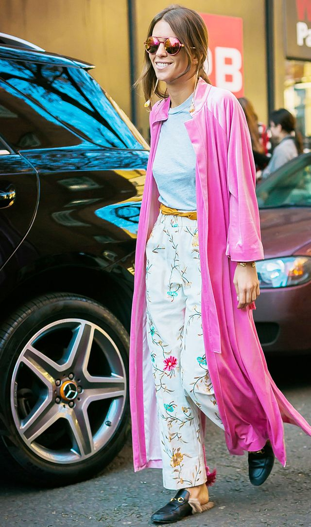 spring outfits - pink robe