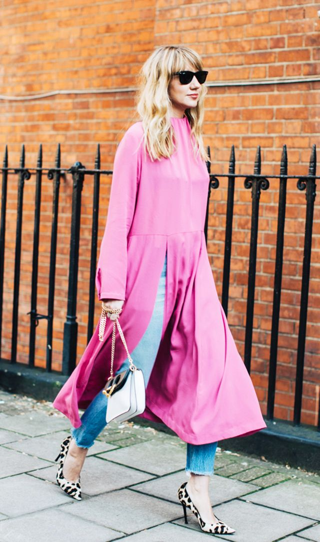 spring outfits - pink top