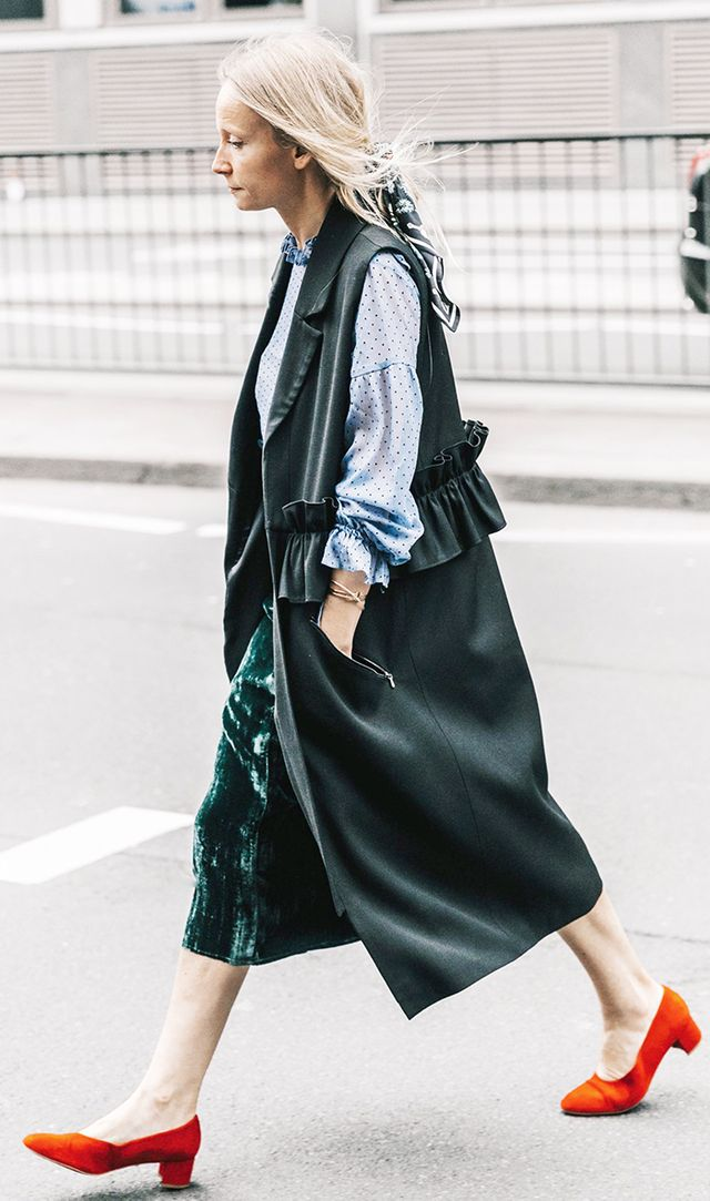 spring outfits - long vest