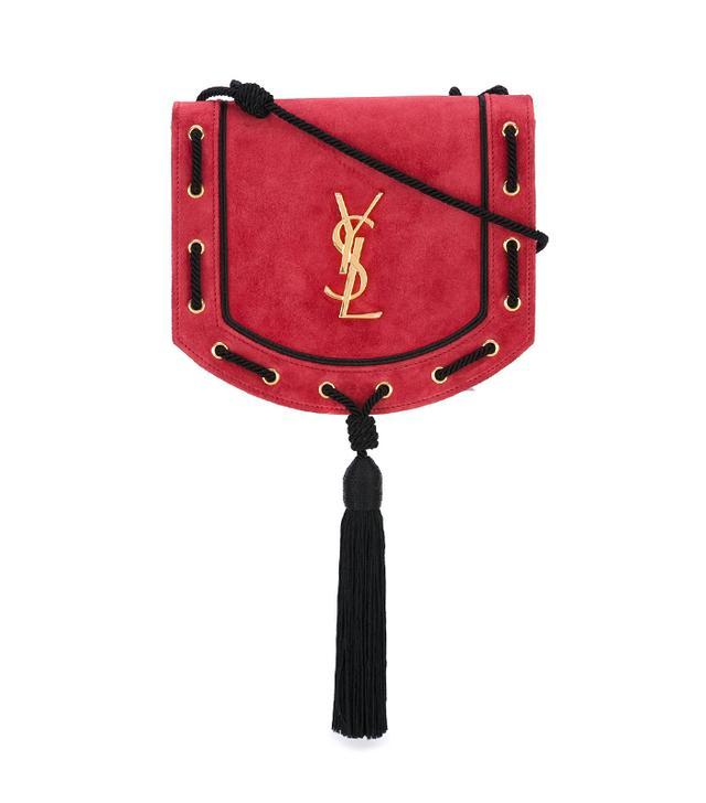 best designer red bag- saint laurent tassel satchel