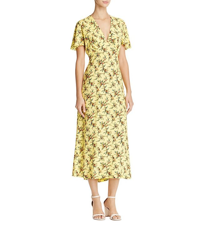 best summer dress- sandro Enis Printed Midi Dress
