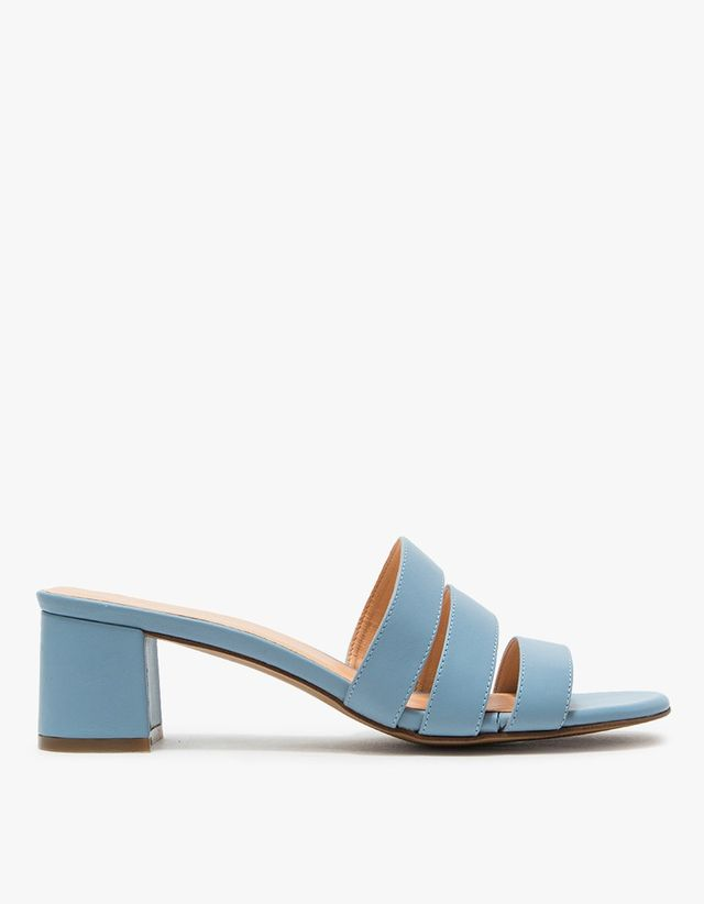 Marais USA Jane Mule in Blue Napa Leather