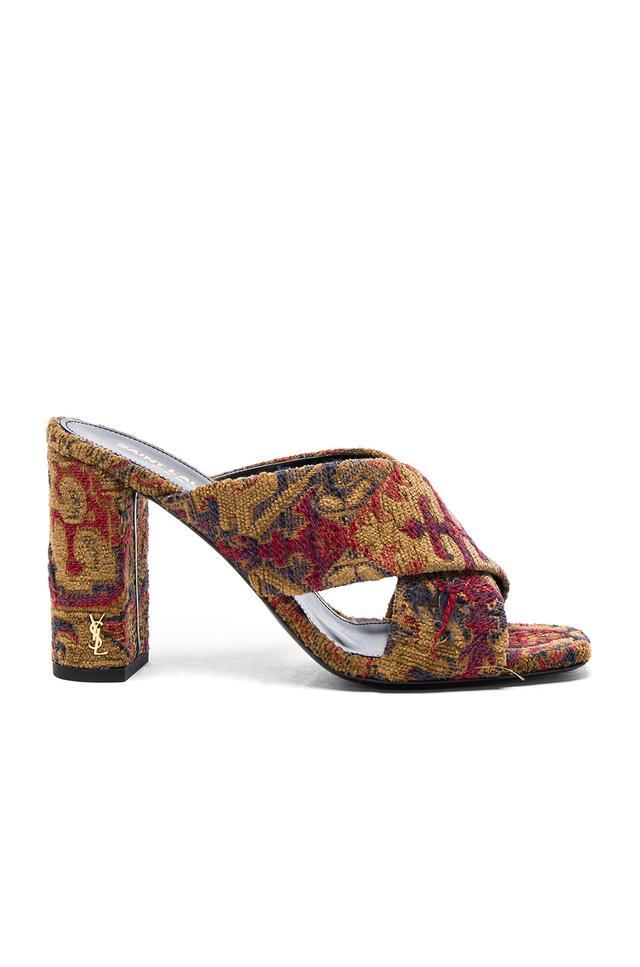 Saint Laurent LouLou Tapestry Mules