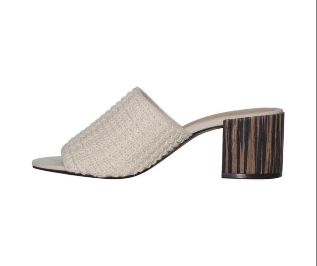 Who What Wear Collection Felicity Macrame Strap Block Heel Slide Sandals