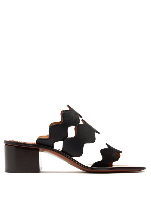 Chloé Lauren Triple-strap Leather Sandals
