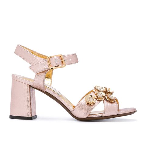 Embellished High-Heel Sandals