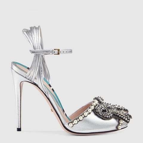 Embroidered Leather Sandal