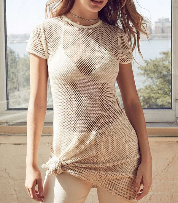 Urban Outfitters BDG Uma Fishnet T-Shirt Dress