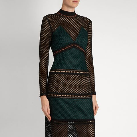 Forest Paneled Midi Dress