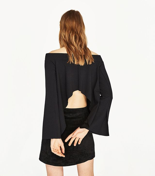Zara Off-the-Shoulder Top with Back Opening
