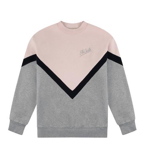 Chevron Stripe Boyfriend Sweatshirt