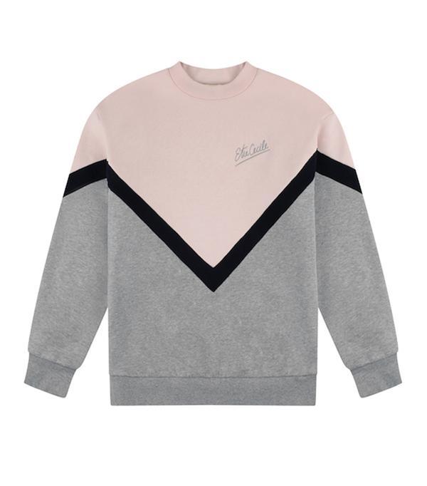 Etre Cecile Chevron Stripe Boyfriend Sweatshirt