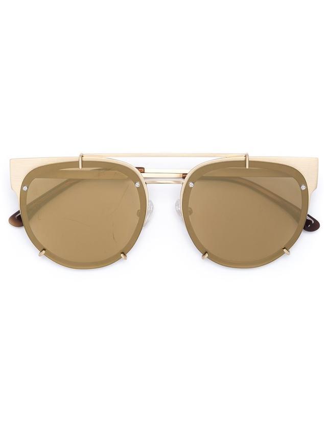 metal frame sunglasses - Vera Wang Round Frame Sunglasses
