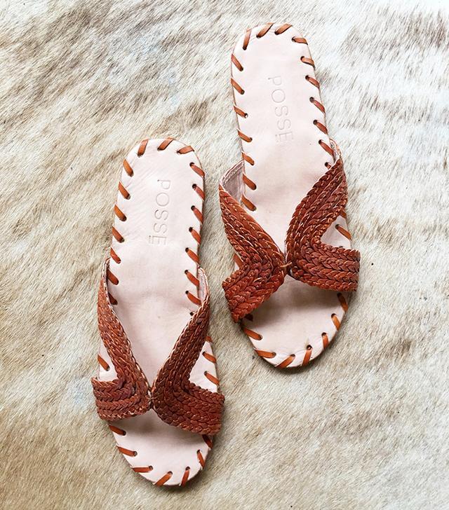 Posse St. Tropez Leather Slides
