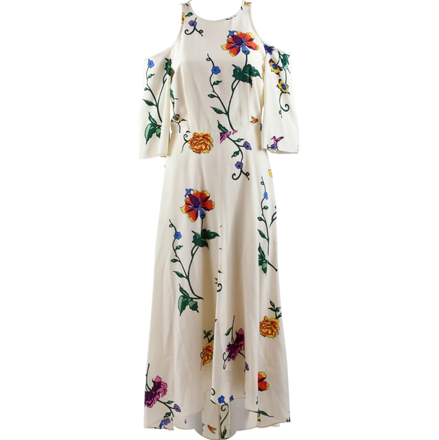 Tibi Long Silk Dress