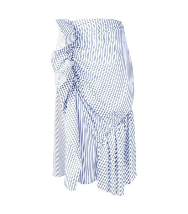 J.W. Anderson Gathered Striped Skirt