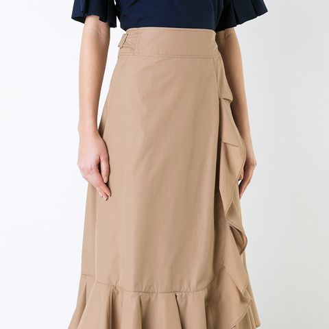 Elasticated Detailing Ruffled Skirt