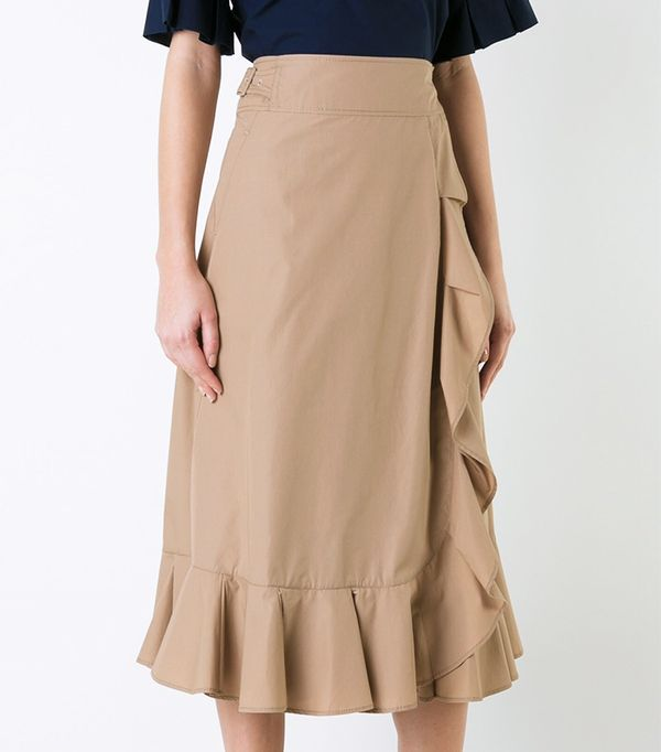 Muveil Elasticated Detailing Ruffled Skirt