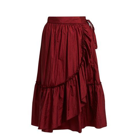 Bossa Ruffled-Detail Midi Skirt