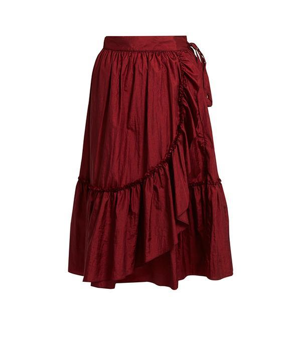Rachel Comey Bossa Ruffled-Detail Midi Skirt