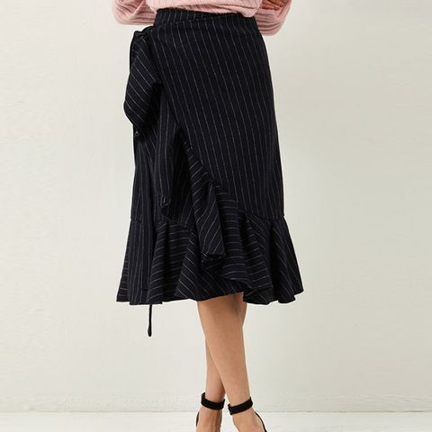 Carolyn Wrap Stripe Skirt