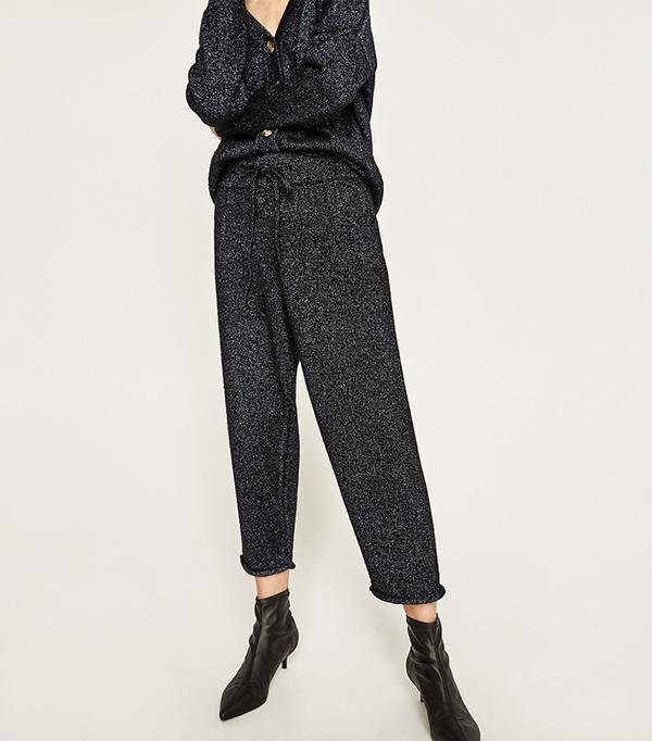 Zara Shiny Fabric Trousers