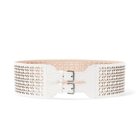 Laser Cut Leather Waist Belt