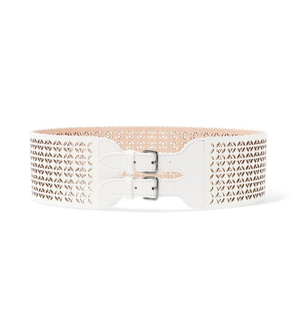 belt trend - Alaia Laser Cut Leather Waist Belt
