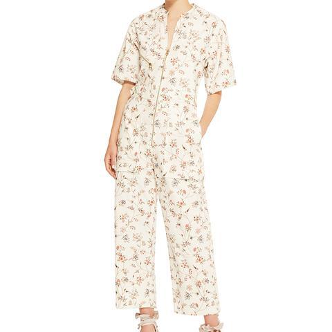 Talma Floral-Print Cotton Print Jumpsuit