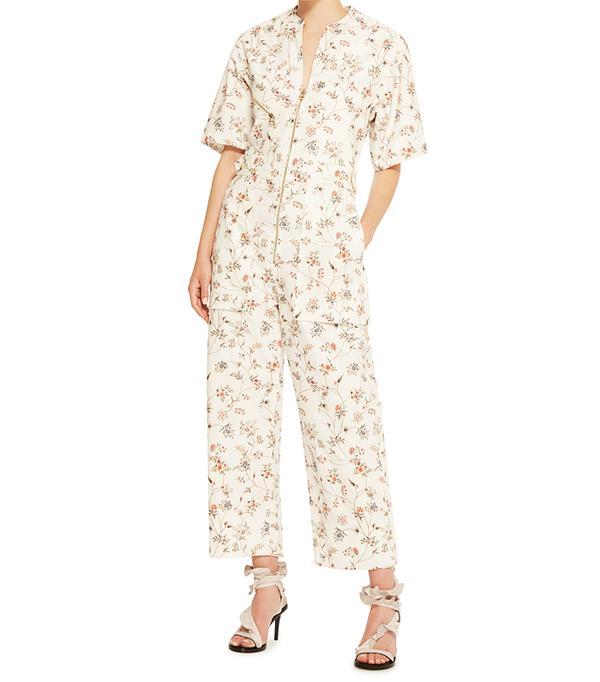 Isabel Marant Talma Floral-Print Cotton Print Jumpsuit