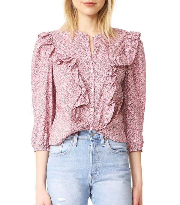 La Vie Rebecca Taylor Meadow Flower Top