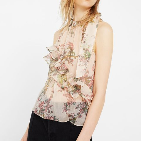 Ruffle Printed Top