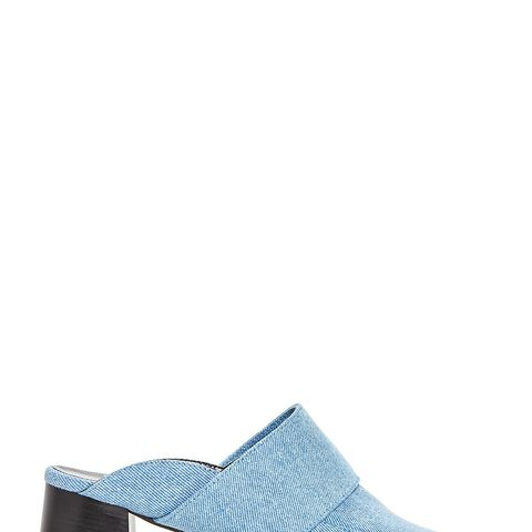 Gwynne Denim Block Heel Mules