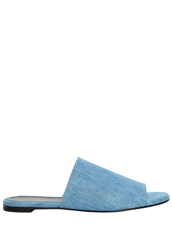 Robert Clergerie 10MM Gigyt Denim Slide Sandals