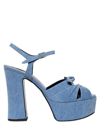 Saint Laurent 140MM Candy Denim Sandals