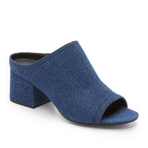 Cube Open Toe Mules