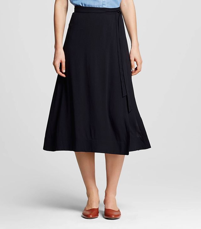 best wrao skirt who what wear black
