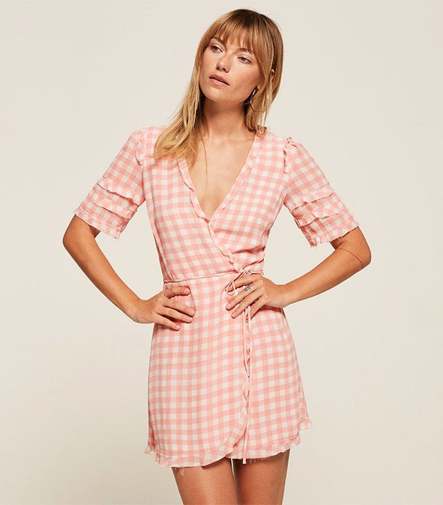 best pink summer dress- Reformation Leanna Dress