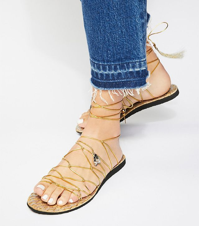 Free People Opulence Wrap Sandal