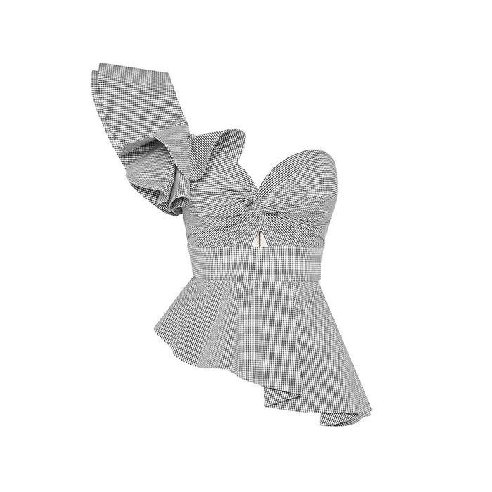 best one shoulder ruffle top
