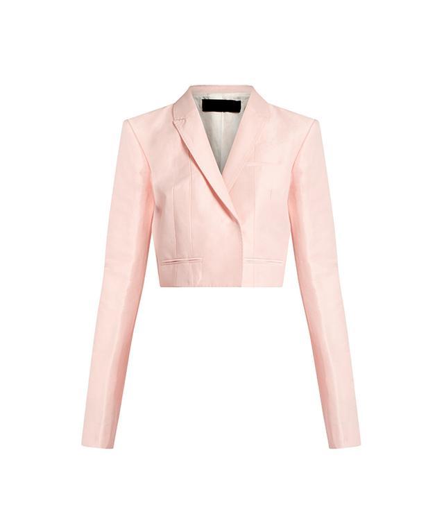 Mercure Linen-blend Cropped Jacket